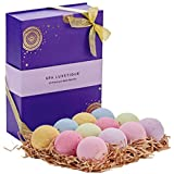 Spa Luxetique Handcrafted Bath Bombs Gift Set, Natural Vegan Shea & Cocoa Butter Dry Skin Moisturize, 12 Lush Fizzies Spa Kit, 3.2oz Each Best Gift Ideas for Valentine, Women, Mom, Girls, Teens, Her