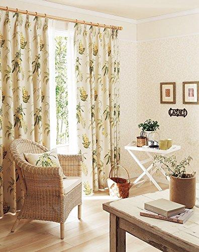 東リ 蘭の花を緻密で華やかにデザイン カーテン1.5倍ヒダ KSA60252 幅:250cm ×丈:170cm (2枚組)オーダーカーテン   B077TBTMLG