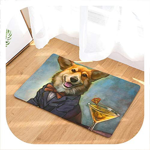 (Chery-Story New Doormat Carpets Personality Oil Painting Dog Print Mats Floor Kitchen Bathroom Rugs 40X60or50x80cm,3,50x80cm)