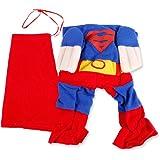 Superman Dog Cat Puppy Halloween Costume Clothes Pet Apparel Superdog Dress Up (medium(neck:30-34cm))