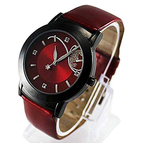 Clearance! Napoo Fashion Pretty Women Girl Lady Luxury Diamond Butterfly Quartz Wrist Watch (A)