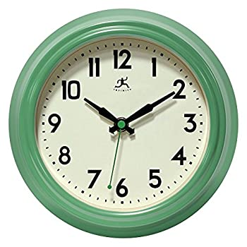 Infinity Instruments Retro Diner Clock, Green