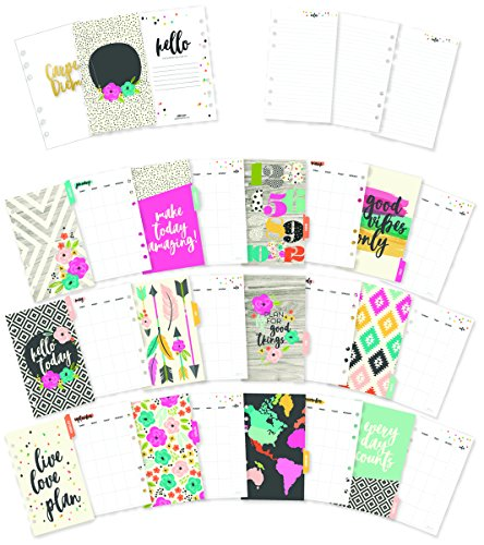 Carpe Diem Good Vibes Personal Monthly Planner Inserts