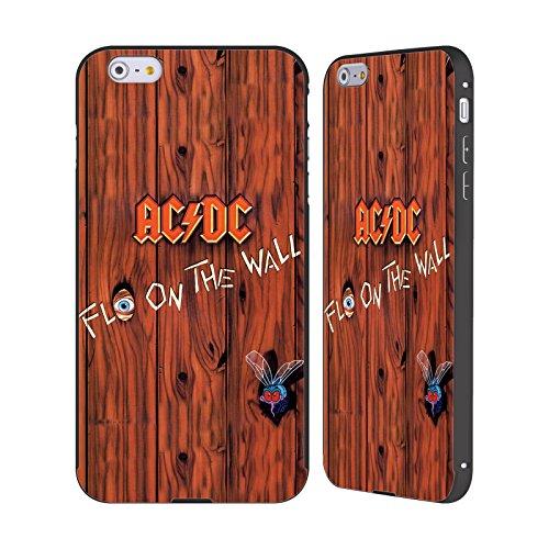 Officiel AC/DC ACDC Flo Sur Le Mur Couverture D'album Noir Étui Coque Aluminium Bumper Slider pour Apple iPhone 6 Plus / 6s Plus