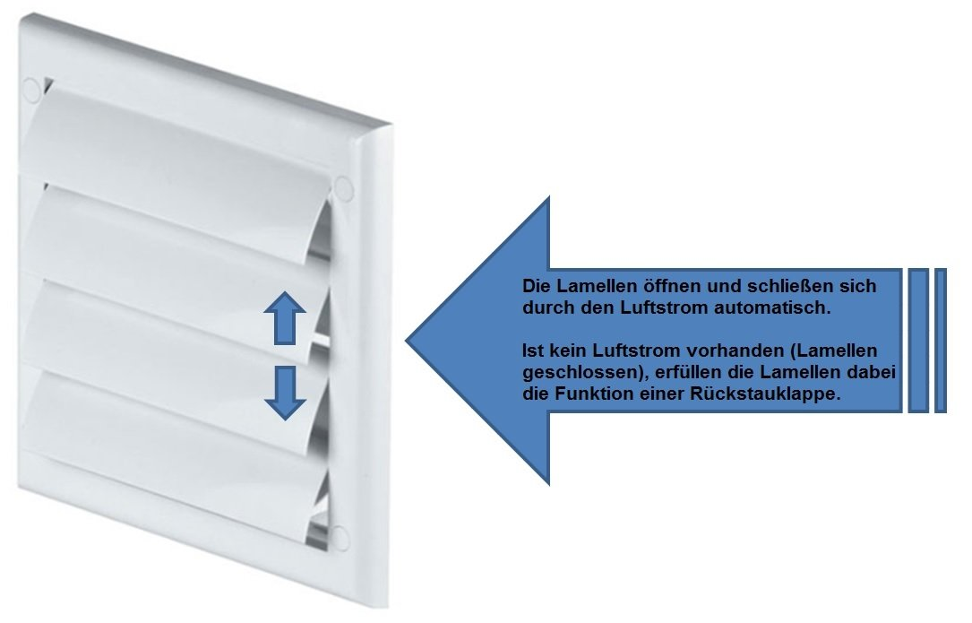 FUSSY CHOICE LTD - Reticolo di ventilazione per condotti d'aria da 100 mm, in plastica TN3, colore: Bianco