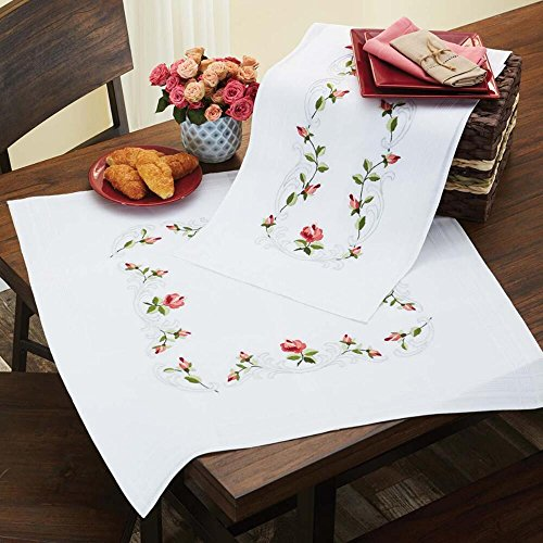 Herrschners® Rose Arbor Table Runner Stamped Embroidery Kit