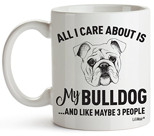 Bulldog Mom Gifts Mug For Christmas Women Men Dad Decor Lover Decorations Stuff I Love Bulldogs Coffee Accessories Talking Art Apparel Funny Birthday Gift Home Supplies Products Dog Coffee Cup Mugs 2