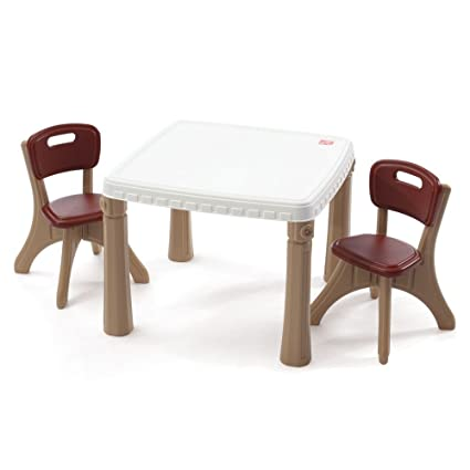 Step2 Lifestyle Kitchen Plastic Table and Chairs Set for Kids - Tan  sc 1 st  Amazon.com & Amazon.com: Step2 Lifestyle Kitchen Plastic Table and Chairs Set for ...