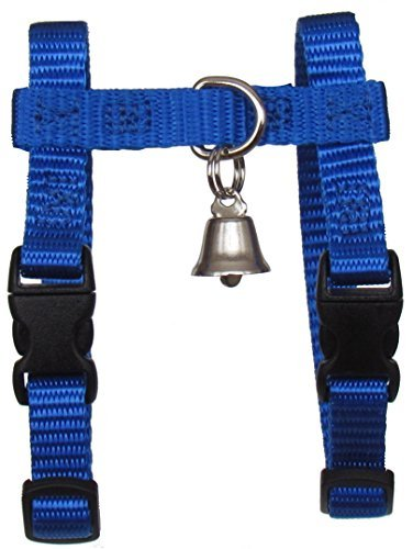 Image of Sandia Pet Products Royal Blue Ferret Harness with Bell