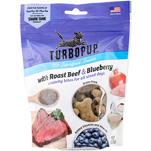 Turbopup Complete K9 Meal Replacement BarAs Seen On Shark Tank | High Protein, Grain Free, All Natural | Made In Usa, 6 Ounces, Roast Beef & Blueberry