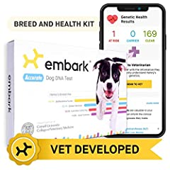 The Embark Dog DNA Test tells you more than you ever thought possible about your dog. The test tracks about 200,000 genetic markers, offering breed identification as well as key insights into genetic disease risk and heritable traits. Until r...