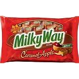 MILKY WAY Fall Harvest Caramel Apple Chocolate Minis Size Candy Bars 11.5-Ounce Bag