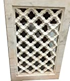 Antique Marble Window Jali Hand Carved Architectural Wall Decor 18c
