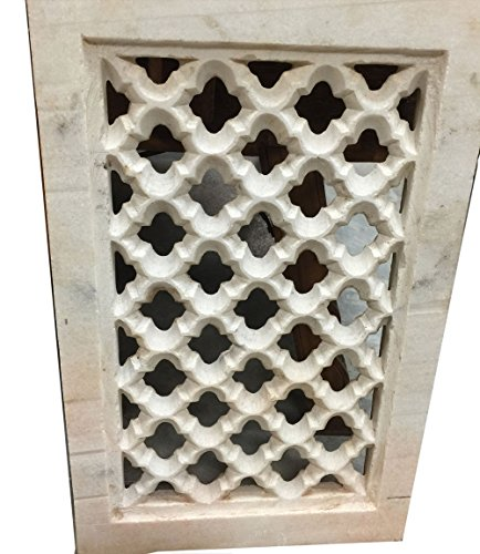Antique Marble Window Jali Hand Carved Architectural Wall Decor 18c by Mogul Interior