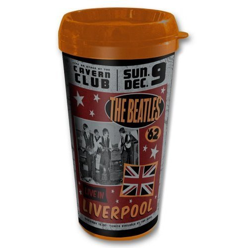 Price comparison product image The Beatles Live In Liverpool Retro Thermal Travel Coffee Mug Vacuum Official