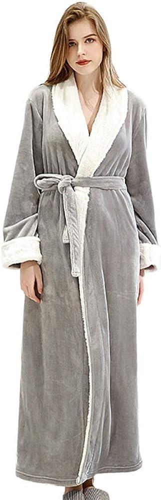 Womens Fleece Robes Soft Plush Kimono Max 45% OFF Sleep Bathrobe OFFicial site Thick Long