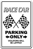 "RACE CAR Sign racing drag strip midget auto nascar driver track | Indoor/Outdoor | 12"" Tall"