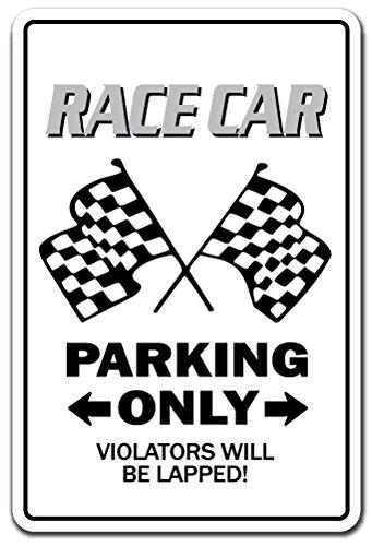 Sign Nascar Parking (Race CAR Sign Racing Drag Strip Midget auto nascar Driver Track | Indoor/Outdoor | 12