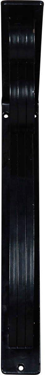 1 1//2W x 12D x 15H 3//8W Center Brace Ekena Millwork BKTM01X12X15SAV Wrought Iron Bracket Powder Coated Black