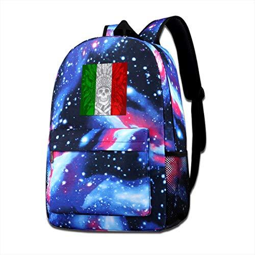 - Jiadeyuan Electronic Techno Italian Flag School BagSuitable ForMenforTravel