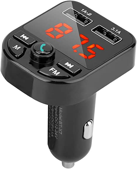 Caricabatteria da auto 3.1A Wireless Car BT Lettore MP3 Dual USB Charger Vivavoce Adattatore USB 2.0 ad alta velocit/à