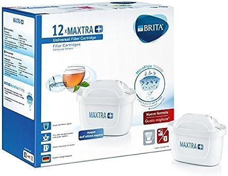 BRITA 1025126 Filtros para Jarra de Agua Maxtra+, Bianco, 12 Filtri: Amazon.es: Hogar