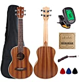 Kulana Deluxe Tenor Ukulele, Mahogany Wood with Binding and Aquila Strings + Gig