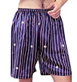 Winwinus Mens Comfort Silk Printed Relaxed-Fit Pajama Pants/Lounge Pants? Pattern15 L
