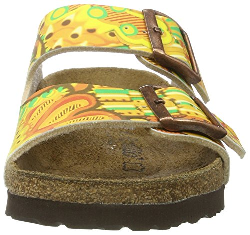 Papillio Arizona Birko-flor - Mules Mujer Mehrfarbig (African WAX Gold)