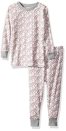 Burt's Bees Baby Unisex Baby Pajamas, 2-Piece PJ Set, 100% Organic Cotton (12 Mo-7 Yrs), Micro Cross Stitch, Months
