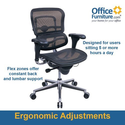 Eurotech Seating Ergohuman ME8ERGLO(N) Mid Back Mesh Swivel Chair, Black (Eurotech Office Chairs)