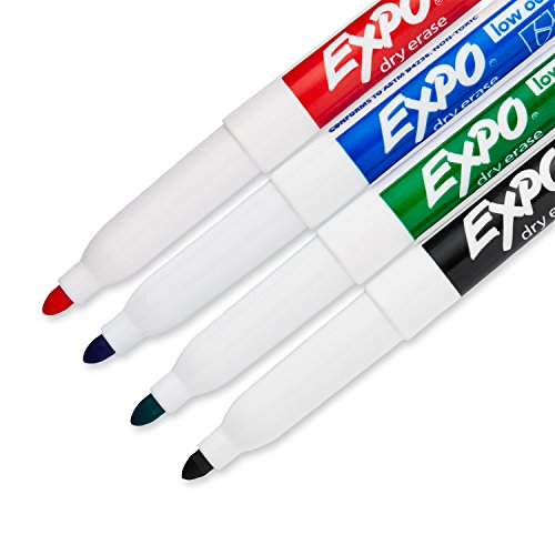 EXPO 86674K  Low-Odor Dry Erase Markers, Fine Point, Assorted Colors, 4-Count by Expo (Image #2)