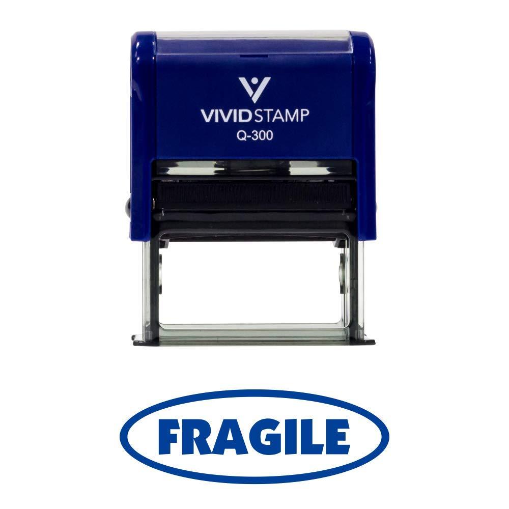 Fragile Büro selbstfärbender Office Gummi Stempel 3 4  x 1-7 8  Large blau B01AKL74MK     | Guter weltweiter Ruf