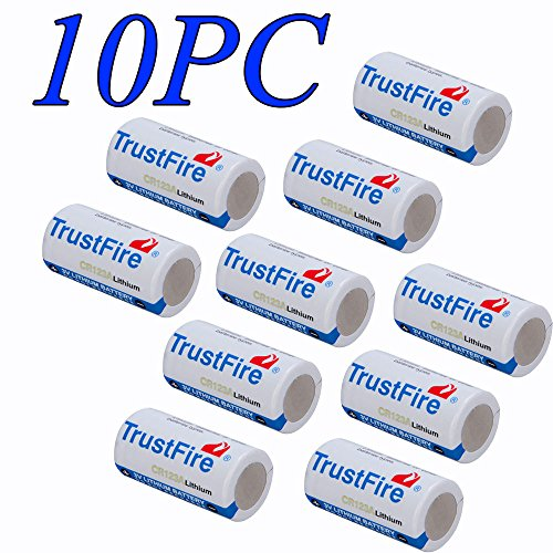 10PC CR123A 1400mAh Li-ion Lithium Photo Battery For Camera,Flashlight (single use battery)