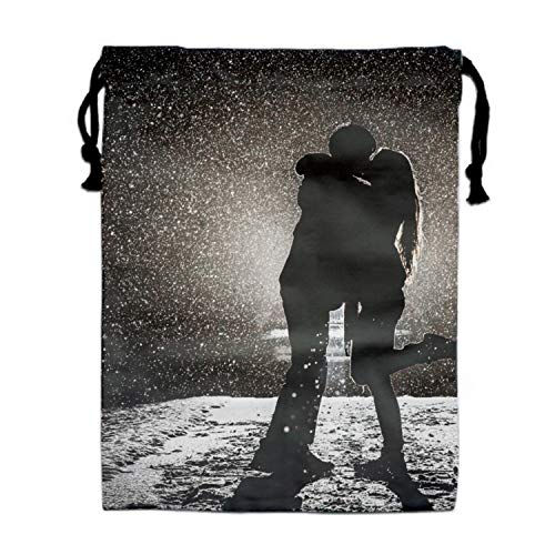Drawstring Backpacks Cheap for Kids Party Couple Kissing In Snow Favors Bags Gym Drawstring Bags Bulk
