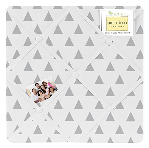 Sweet Jojo Designs Triangle Print Fabric Memory/Memo Photo Bulletin Board for Earth & Sky Collection by Sweet Jojo Designs