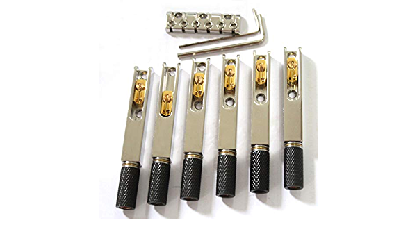 1 Set Headless 4 String Saitenhalter Tremolo Bridge Fanned Fret für Gitarren