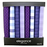 Retreez 8 Piece Pure Cotton Assorted Men's Handkerchiefs Hanky Gift Box Set - Assorted Set A5A008