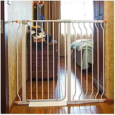 Barreras de puerta Puertas De Bebé Extensibles Puerta De Jardín Extra Ancha Barra De Puerta For Mascotas Cerca De Perro Cerca De Barandilla De Escalera Interior Anti-perro Cerca De Perro De Gran