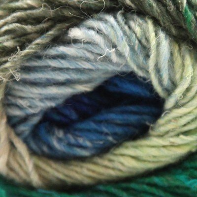 Noro Silk Garden, 391 - Blues-Teal Green-Sand-Pale Yellow