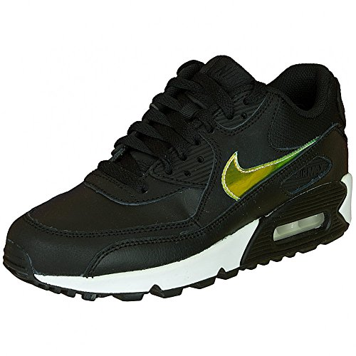 Nike - Zapatillas Air Max 90 GS 307793-096 Negro Dorado