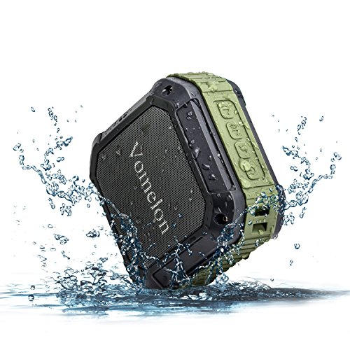 Vomelon U4 Bluetooth Speaker Waterproof Portable Wireless Outdoor/Shower Speaker Vibration Enhanced Bass Resonator for Computer, Laptop, PCs, Tablets, iPhone/iPad/iPod, Samsung