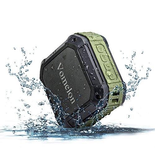 Vomelon U4 Bluetooth Speaker Waterproof Portable Wireless Outdoor/Shower Speaker Vibration Enhanced Bass Resonator for Computer, Laptop, PCs, Tablets, iPhone/iPad/iPod, Samsung