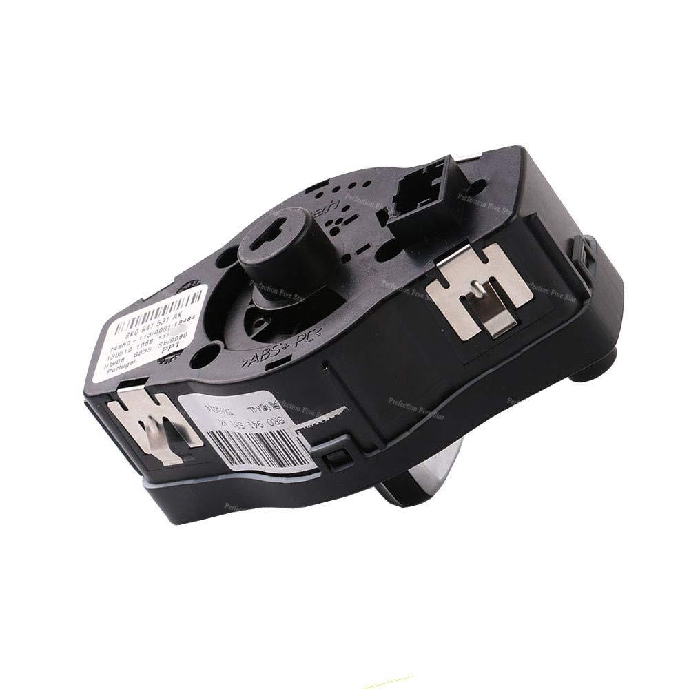 Fincos 8K0941531AK 8K0941531AR New Chrome Headlight Fog Light Switch Control for Audi A4 B8 S4 2009-2012 Quattro A5 S5 Q5 2009-2012