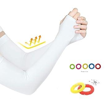 SunBeter Calentadores de brazo al aire libre Mangas de enfriamiento del brazo de protección UV Cubierta