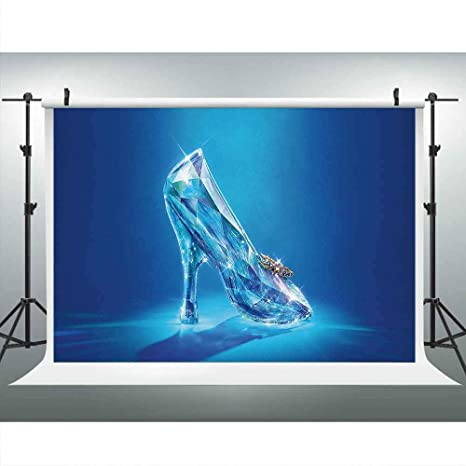 0f5a2de265ef1 Crystal Shoes Backdrop for Photography 9x6ft Cinderella Shoe Fairy Tale  Background Royal Princess Girl Birthday Party