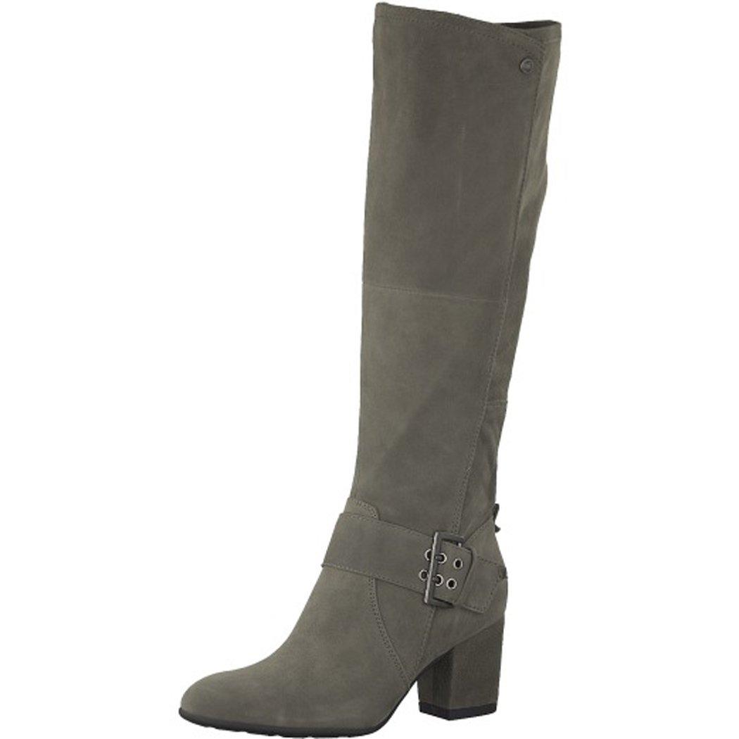 Be Natural Damen Langschaft Stiefel Grau Jana Aus Leder von Größe 37,5 bis 41