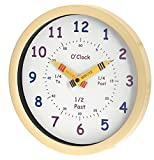 Unity Henley Children's Learn the Time Wall Clock, 10-Inch, Cream