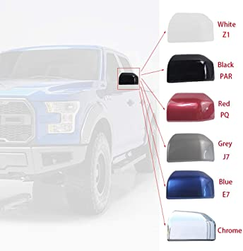 Black Rear View Mirror Covers Trim for F-150 Mirror Cover Caps accessories Replacement for Passenger and Driver Side 2015-2020-set of 2