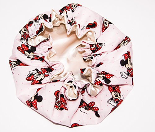 Price comparison product image HANDCRAFTED IVORY Reversible Kids and toddlers SATIN BONNETs are lined with DISNEY MINNIE MOUSE Fabric (MADE IN USA) (KIDS MINNIE MOUSE, IVORY)